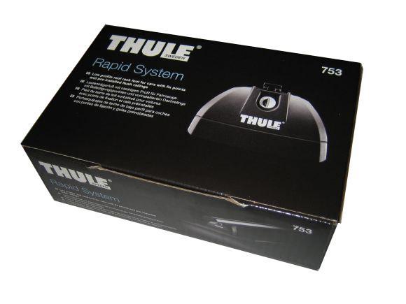 thule 753 fotsats for biler med fixpoint flush. Black Bedroom Furniture Sets. Home Design Ideas