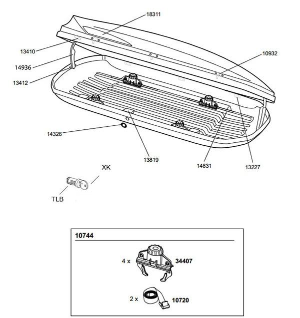 thule ocean takboks monteringssett 10744 autoload. Black Bedroom Furniture Sets. Home Design Ideas