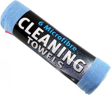 Kent Microfibre Cleaning Towels 6pk