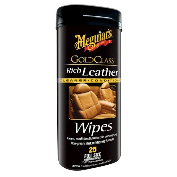 Meguiar´s Rich Leather Cleaner and Conditioner Wipes