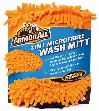 Armour All Wash Mitt 2 in 1 Microfibre