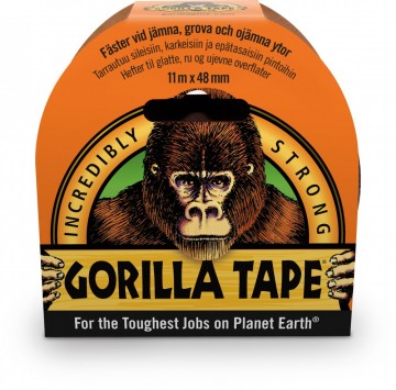 Gorilla Tape Svart 11 m. x 48 mm