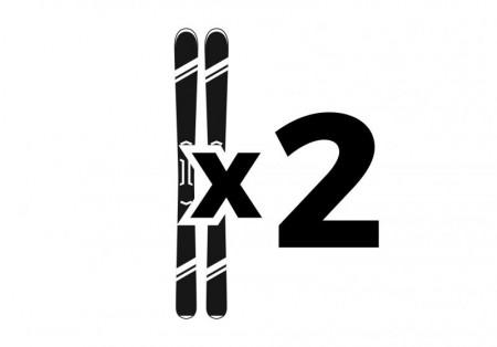 2 par ski